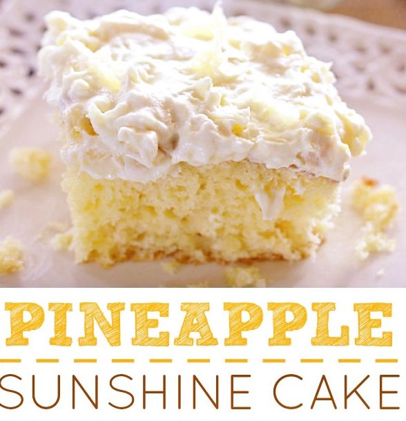 Pineapple Sunshine Cake: 1 Box Yellow Cake Mix 4 Eggs ½ Cup Oil (I Used Vegetable