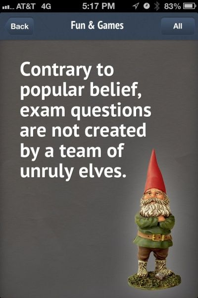 Contrary to popular belief, exam questions are not created by a team of unruly elves.   #cpaexamfun #cpaexam