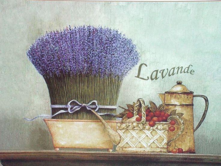 Лавандовая композиция для декупажа