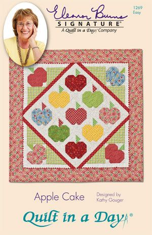 CLEARANCE, Wall Hanging Pattern, Apple Cake Quilt Pattern, Eleanor Burns Signature, Quilt in a Day
