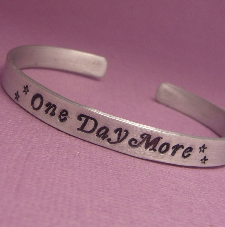 Les Miserables Inspired - One Day More - A Hand Stamped Aluminum Bracelet. $13.95, via Etsy.