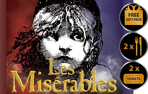 LES MISERABLES THEATRE VOUCHER SHOW AND DINNER FOR TWO THEATRE VOUCHER GIFT PACKAGE Les Miserables is one of the most beloved and longest running
