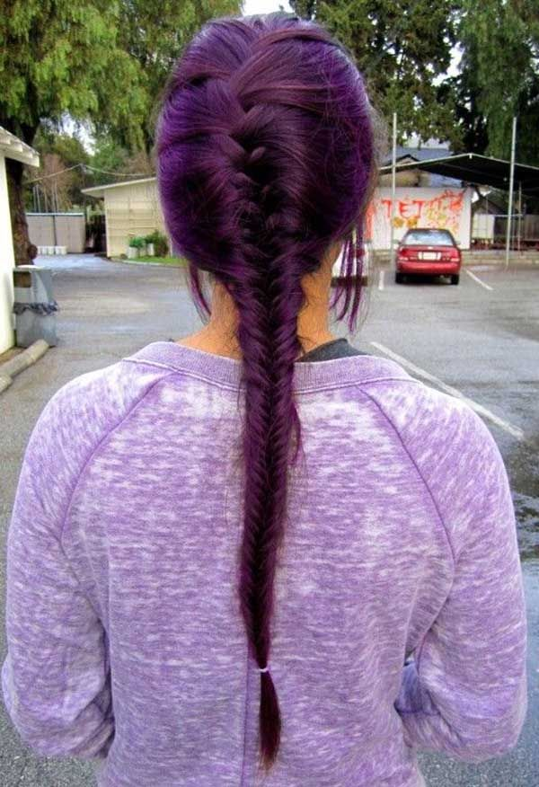 Eggplant Hair Trend for 2017   New Hair Color Ideas & Trends for 2017