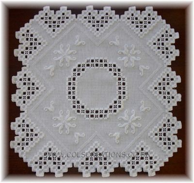 Col's Creations - Traditional Hardanger Designs - The Elegant Mats Collection Make Beautiful Gifts