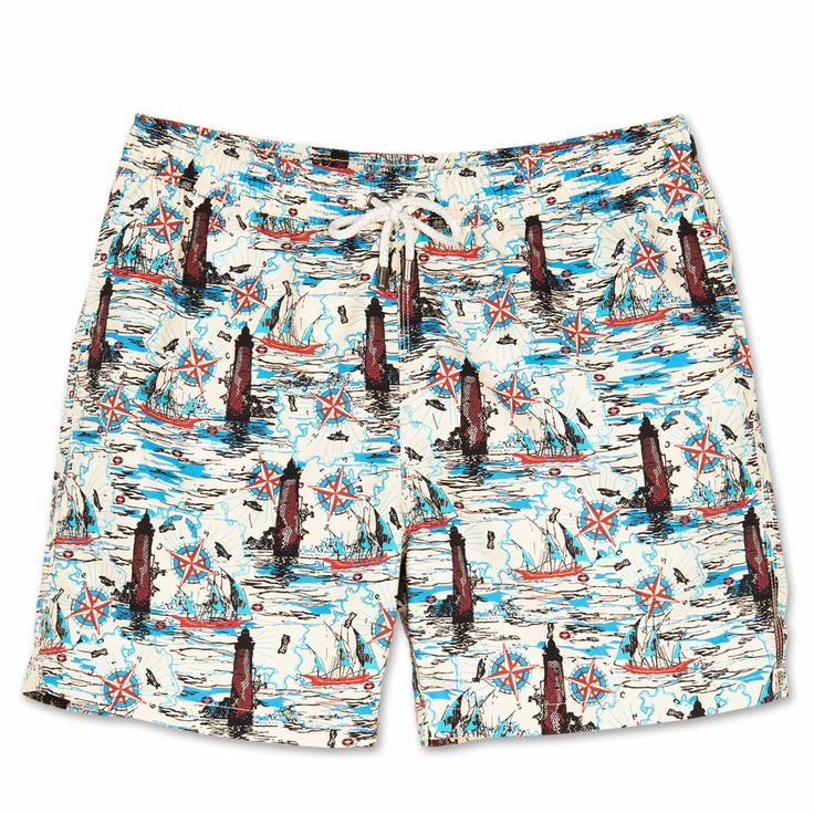 Bluemint mens swim trunks. Bluemint swimwear is perfect on the beach or at the bar, every guys essential for this summer.   Style: Arthur, Light house