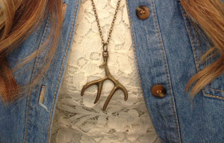 Bronze Antler Necklace | Six Shooter Gifts