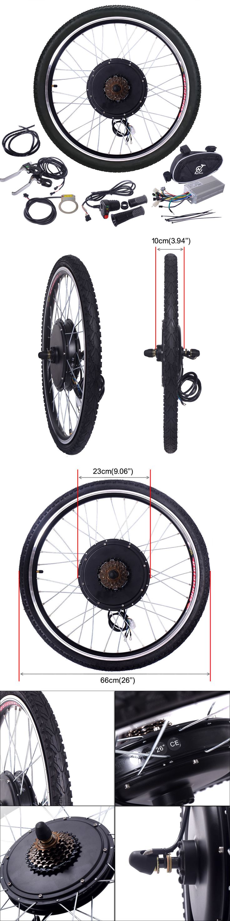 Electric Bicycles 74469: 26 48V 1000W Electric Bicycle Cycle E Bikeconversion Kit Hub Motor Rear Wheel -> BUY IT NOW ONLY: $150.59 on eBay!