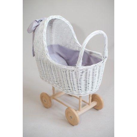 Wózek wiklinowy dla lalki - KEJKA