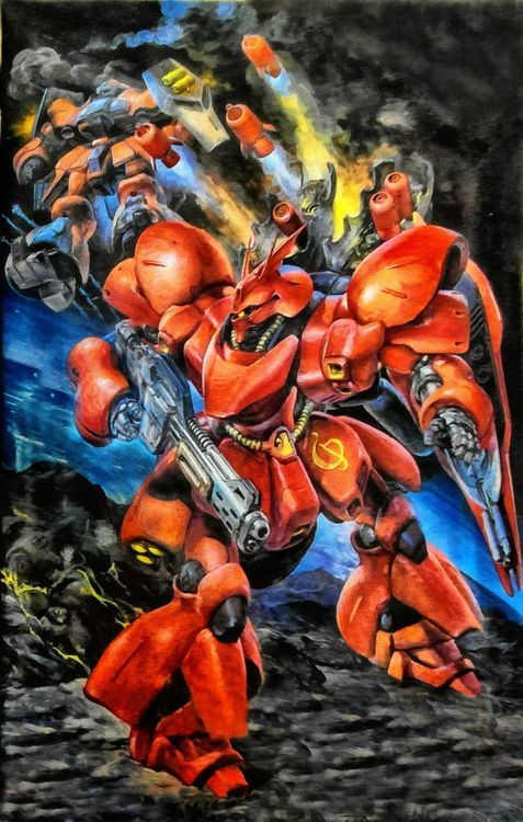Gundam - MSN-04 Sazabi by Yoshiyuki Takani | ガンダム - 高荷 義之 *