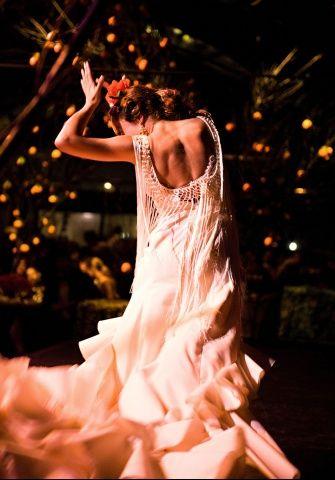 Flamenco Dress: I like the idea of the fringe along the backline.