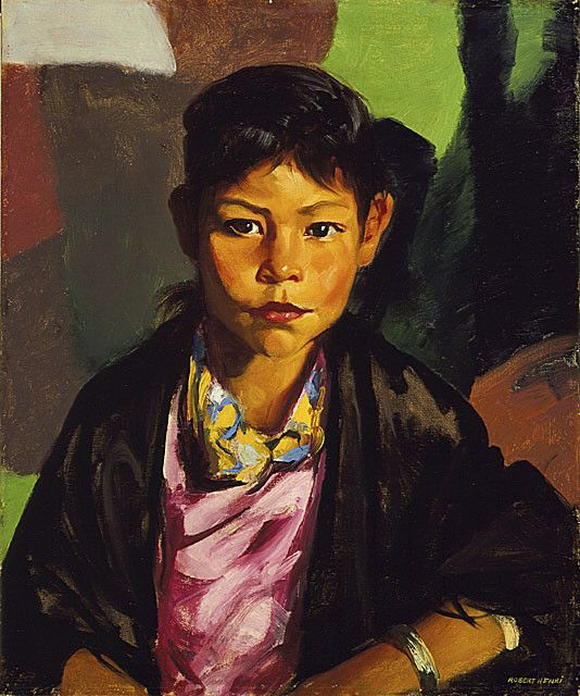 robert henri - pepita Great use of colour in the background
