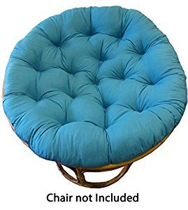 Amazon.com: Cotton Craft Papasan Teal - Overstuffed Chair Cushion, Sink into our Thick Comfortable and Oversized Papasan, Pure 100% Cotton duck fabric, Fits Standard 45 inch round Chair - Chair not included: Home & Kitchen