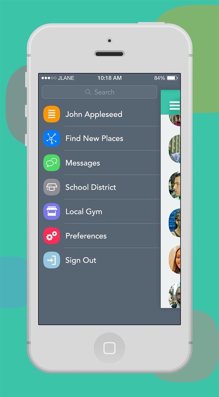 Slide menu app