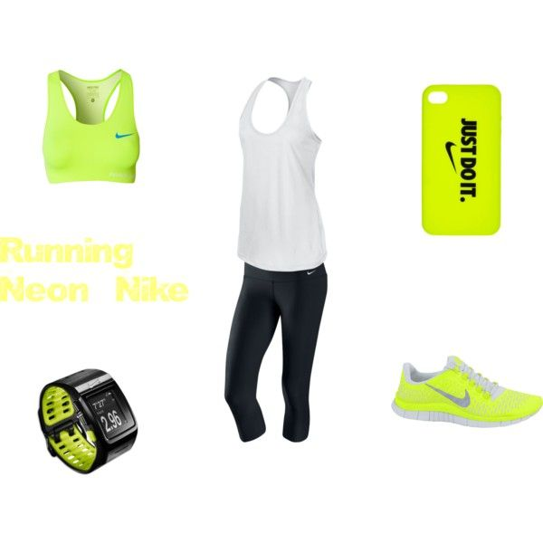Running Neon Nike by signefejrskov on Polyvore