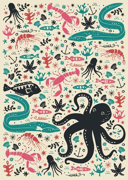 ocean fish wallpaper pattern - photo #33