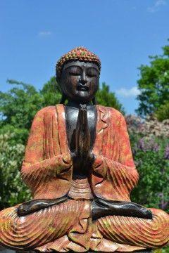 Boeddha Namaskara Art Wood 50 cm