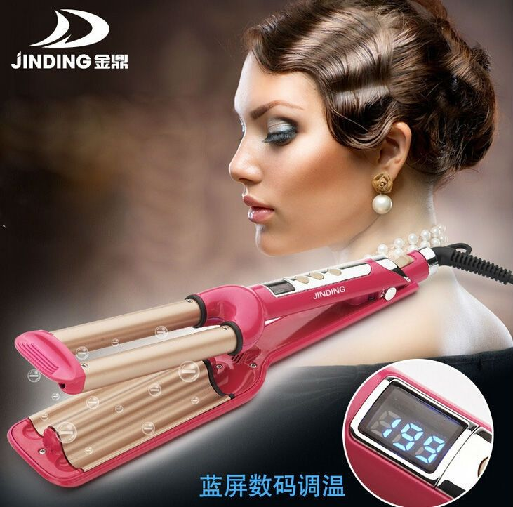 39.80$  Watch here - http://alivv1.shopchina.info/go.php?t=32782719651 - Free Shipping Fashion Ceramic Triple Barrels Three Barrels LCD Curling Iron Deep Wave Curler Hair Waver 39.80$ #aliexpresschina