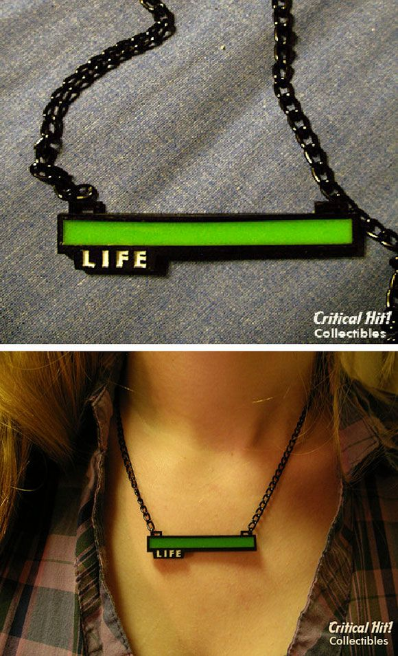 Life Bar Necklace For Gamers