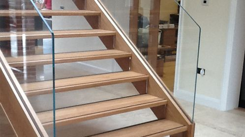 A contrasting strip along the edge of the tread will help to navigate the steps safely