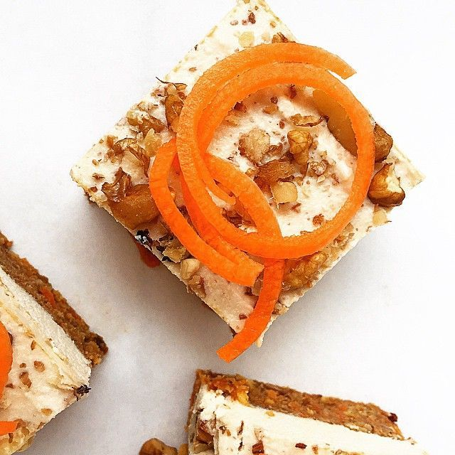 Just look at these beautiful #Raw Carrot #Cake squares! so so amazing! #Paleo #primal #paleouk #paleotreats #paleoathlete #paleorecipes #wellness #wellbeing #wheatfree #weightloss #crossfit #cleaneating #cleancheats #foodporn #foodblogger #grainfree #glutenfree #vegan #veganuk #dairyfree #delicious #rawcake #instafood #health #healthy #healthyeating