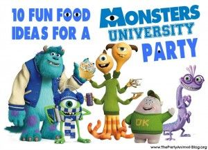 Monsters University Party Food Ideas via The Party Animal #monsters