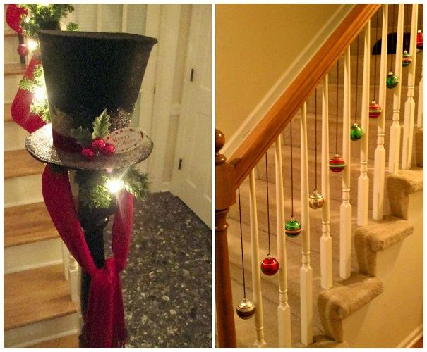 Fun ways to decorate stairs for christmas crafty morning for Decorate my photo