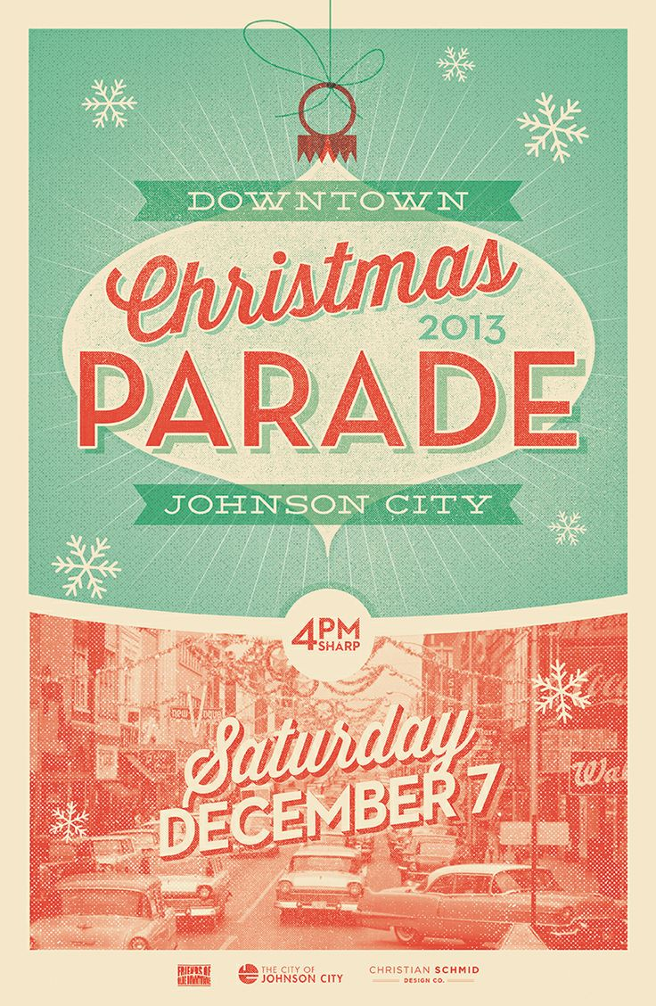 Poster design ideas pinterest - Vintage Christmas Poster For Johnson City Tn Parade