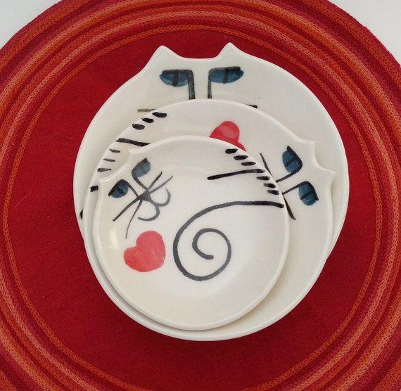 декоративные гнездования чаши: Cat Керамика коллекция HM