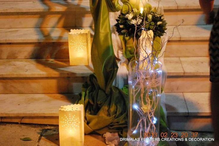 Στολισμός γάμου με λευκά τριαντάφυλλα