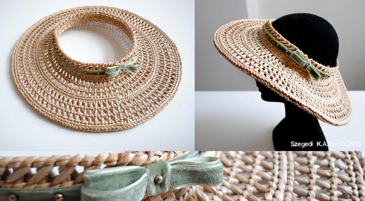 Something for the summertime  #hat #summer #reeds #gyekeny #craft #ecodesign