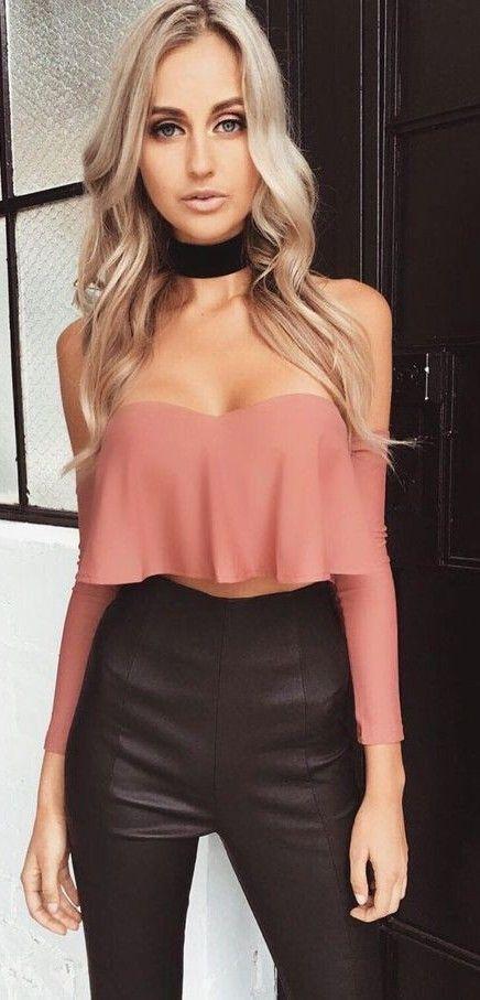 #summer #tigermist #outfits | Dusty Pink + Blalck