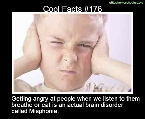 So this is what's wrong with me....lol Cool facts #176 http://en.wikipedia.org/wiki/Misophonia