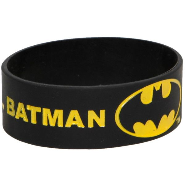 DC Comics Batman Keep Calm And Call Rubber Bracelet | Hot Topic (17 DKK) found on Polyvore