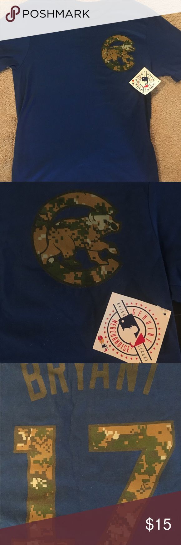 NWT 💙❤️ Boys / Youth Chicago Cubs Tee Shirt. NWT Chicago Cubs Bryant tee Shirt. Size 14-16. Camo logos. Majestic Shirts & Tops Tees - Short Sleeve