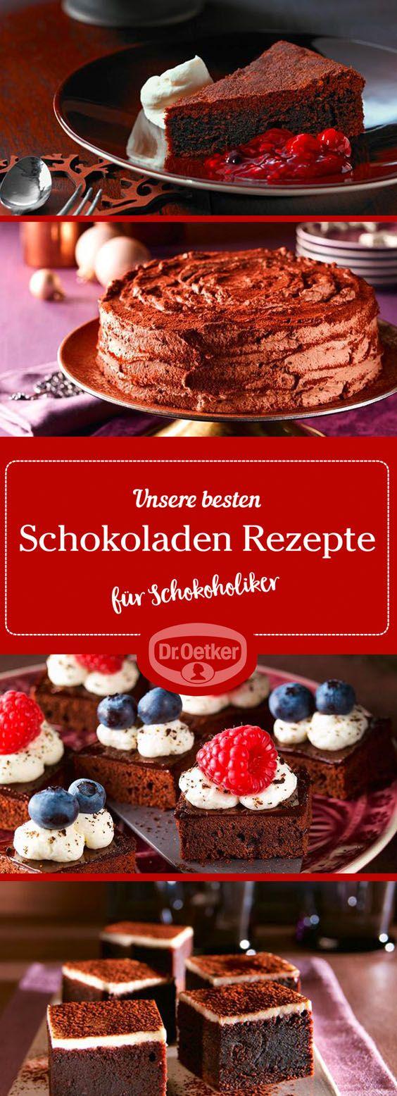 Entdecken Sie unsere wunderbaren Schokoladen-Rezepte.