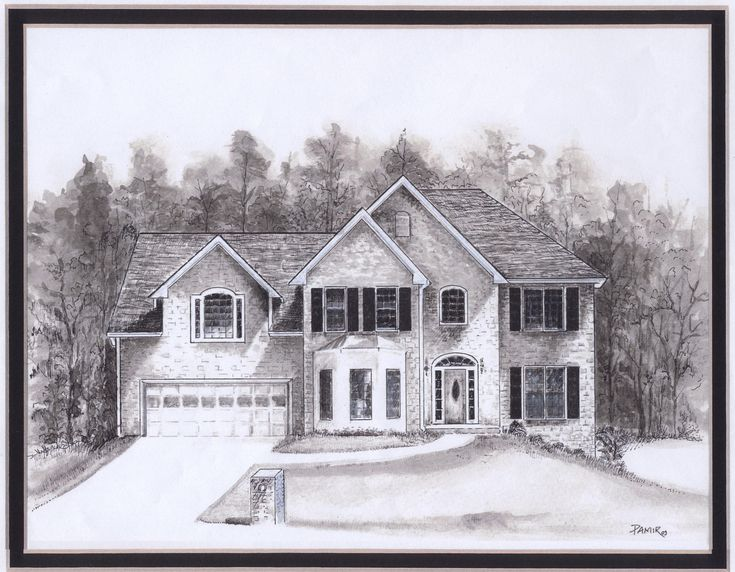 17 Best Images About House Drawing On Pinterest House