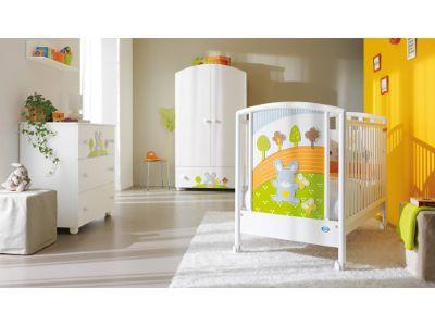 Lettino neonato Pali Smart Bosco. Trasforma la sua stanza in un fantastico boschetto con un tenerissimo coniglietto che gli fa compagnia!