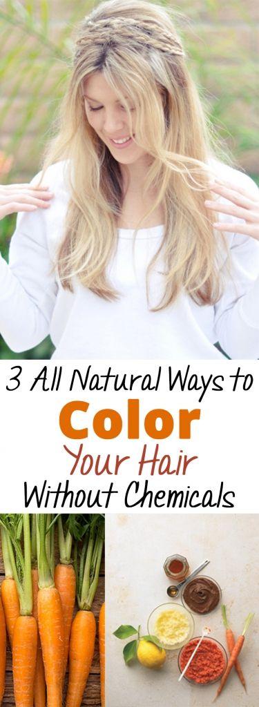 3 All Natural Ways to Color Your Hair Without Chemicals