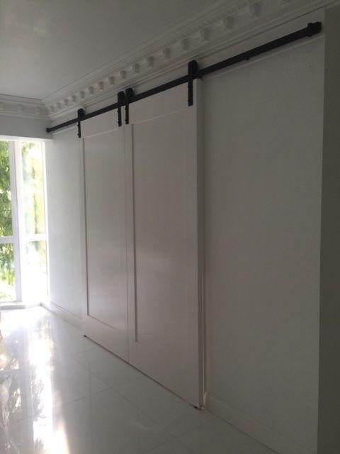 366 см раздвижные двери сарай оборудование сарай деревянные раздвижные следить комплект двойные раздвижные двери амбара вешалка
