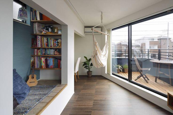 向山建築設計事務所 の モダンな リビングルーム 高津の家