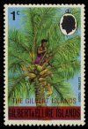 1976: Overprint Man cutting toddy (איי גילברט) (Gilbert and Ellice Islands Scenes) Mi:GB-GI 248,Sn:GB-GI 253,Sg:GB-GI 3
