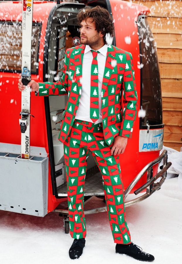 Ugly Christmas Sweater Suits Are Here and They Must Be Stopped