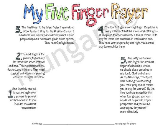photograph relating to 5 Finger Prayer Printable known as 5 Finger Prayer Craft