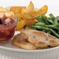 Recept - Kalkoenfilet met appel-cranberrycompote -