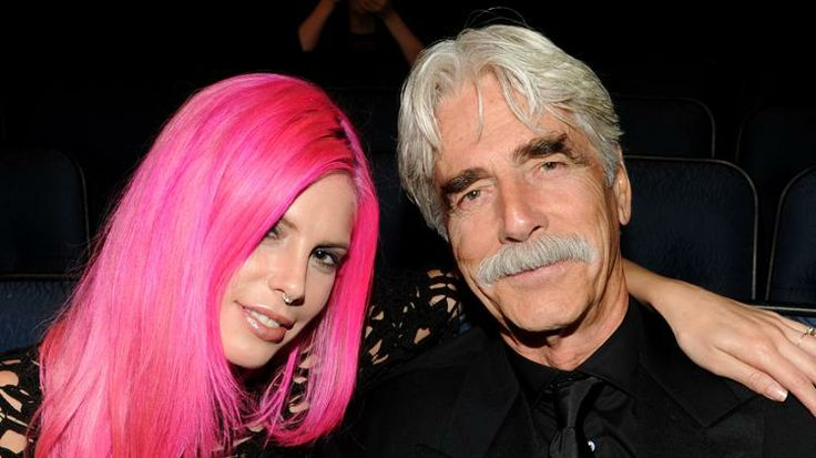 Cleo Elliott and father Sam Elliott at the Emmy Awards in 2013