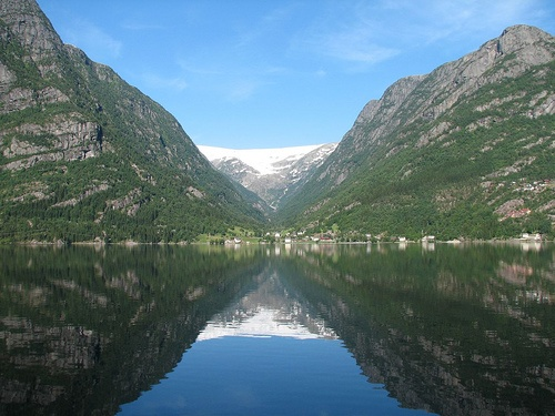 Buerdalen valley and glacier, in Odda, Hardangerfjord, Norway.  Dave's Grandma grew up here.  It's even more beautiful to be in this place.