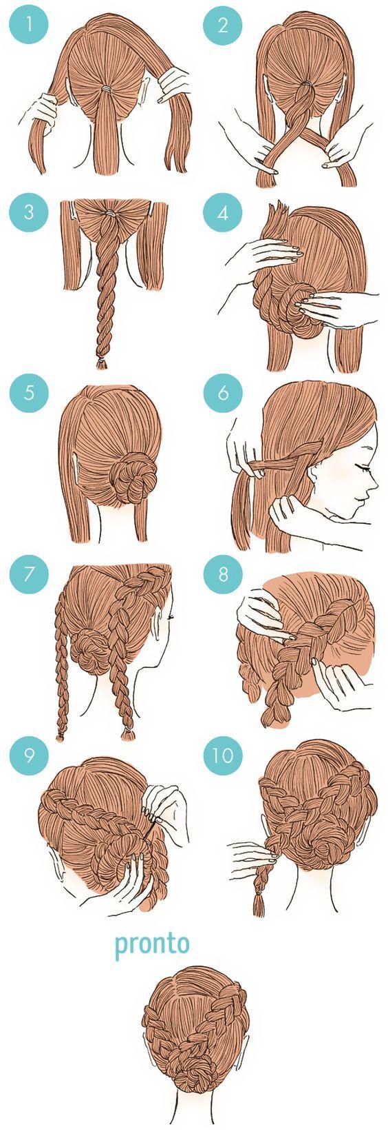 20 Penteados estilosos que qualquer menina consegue fazer: Follow yonce & get posts on the daily @hayleybyu