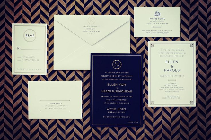Printed Materials for a Wythe Hotel wedding in Brooklyn done by the same person who made my friend's invites. http://www.1440nyc.com/bespoke/