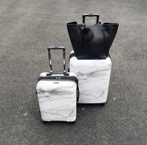 marbel-travel-luggage- Chic traveling luggage http://www.justtrendygirls.com/chic-traveling-luggage/