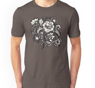 Bouquet T-Shirts & Hoodies  bouquet flower floral boho bohemian botanical vector tattoo design floral tattoo flourish blossom ethno zentangles romantic cottage chic